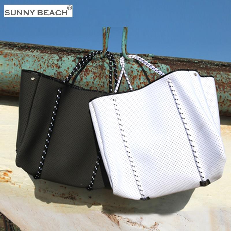 Новая роскошная сумка из неопреновой дышащей ткани для дайвинга, брендовая Повседневная Сумка-тоут на плечо большой вместимости, сумки с ру...