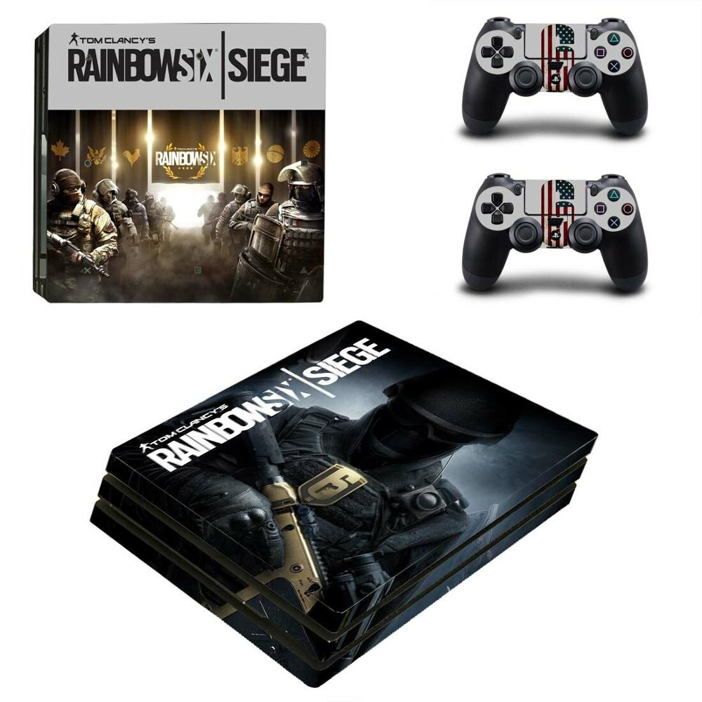 Rainbow Six Siege PS4 Pro Sticker Play station 4 Skin Sticker Decal For PlayStation 4 PS4 Pro Console & Controller Skins Vinyl