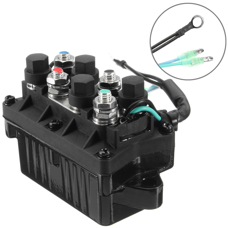 Image 3 - 1 Pcs 2 Wire Plug 12V Power Trim & Relay For 40 225HP Yamaha 4 Stroke Outboard Engine Etc Repalce 63P 81950 00 00-in Boat Engine from Automobiles & Motorcycles