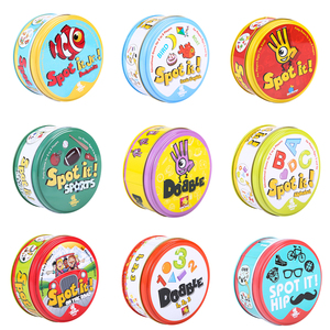 83mm Dobble kid yellow box Spot It game card Basic English Version on Road Holidays dobble Game