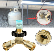 New Hose Barb Y Type Brass Barbed Tube Pipe Fitting Tee 3 Way Connector Adapter With Valve For Fuel Gas Water