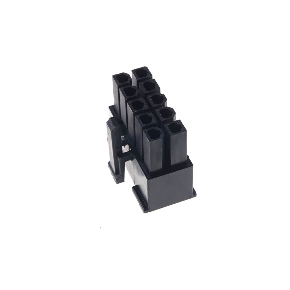 10pcs 2x5 plug Male housing (female contact Pin) <font><b>4.2mm</b></font> Pitch 10 Position Cross Molex <font><b>5557</b></font> Black Power connector Shell Receptacle image