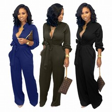 Plus Size Women's Sexy Jumpsuits Elegant Strappy Long Playsuits Trouser Straight Pants Clubwear Romp
