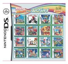Pack 482 en 1, cartes pour console Nintendo DS, 2DS, 3DS, nouveau 3DS XL, album de jeux vidéo Mario, compilation de cartouches,