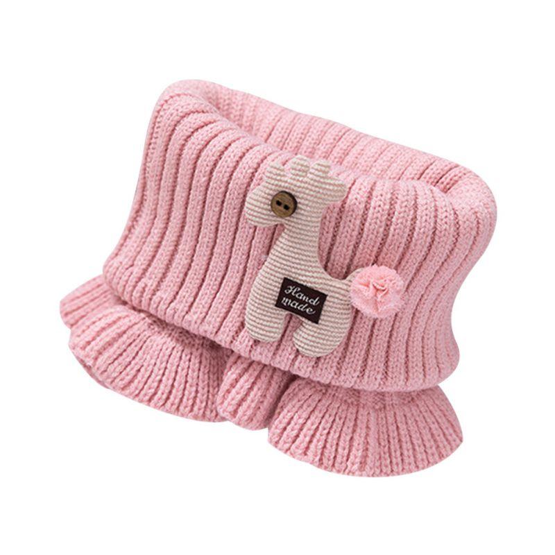 Шарф для маленьких мальчиков и девочек; зимний теплый шарф с рисунком лошади; плотные шарфы с воротником для новорожденных; шейный платок для малышей; - Цвет: DP