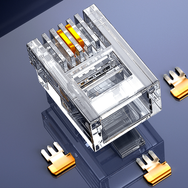 SAMZHE RJ-11 6P6C/6P4C/4P4C prise téléphonique modulaire ConnectorRJ 11 tête de cristal