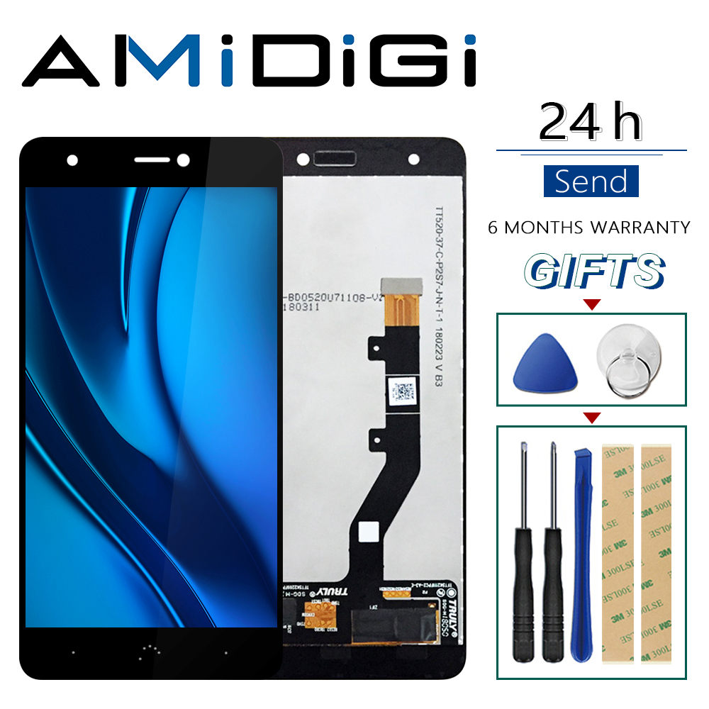For BQ Aquaris X / X Pro Original LCD Display + Touch Screen Digitizer Assembly Replace Parts For BQ X Pro LCD Panel Tactil