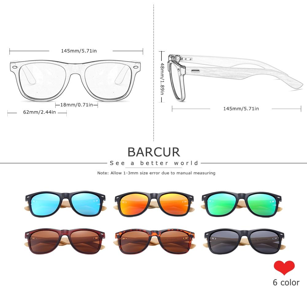 BARCUR бамбуковые солнцезащитные очки для мужчин и женщин, солнцезащитные очки для путешествий, винтажные деревянные очки для ног, модные солн...