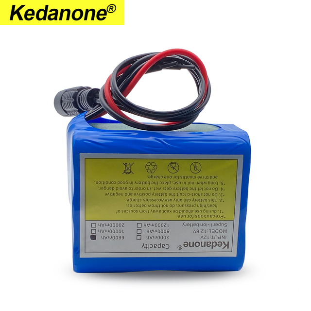 12V 6800mah battery 18650 Li-ion 6.8 Ah Rechargeable batteries  with BMS Lithium Battery packs Protection Board +12.6V Charger 4