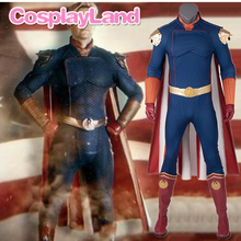 The Boys Homelander Cospaly Superhero Costume Adult Halloween Costumes Antony Starr Jumpsuit Cloak Shoes Blue Bodysuit