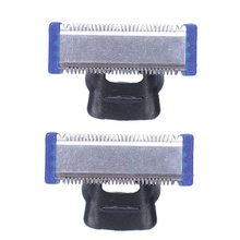 Replacement Trimmer Blade for MICRO TOUCH SOLO Electric Shaver Cleaning Cutter Head (2 PCS)