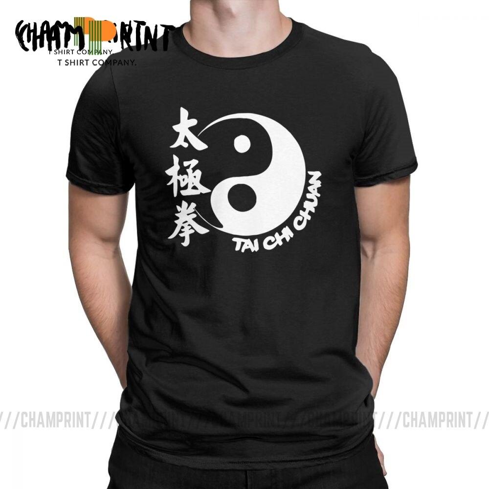 Tai Chi Chuan T Shirt Men's Pure Cotton Hipster T-Shirts Crew Neck Tees Short Sleeve Clothing 4XL 5XL 6XL