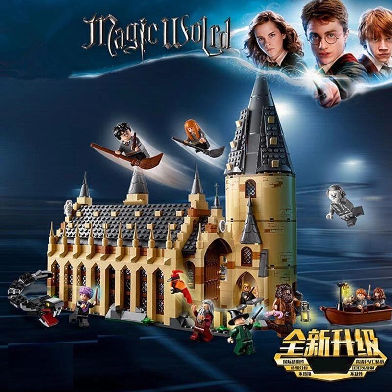 983 шт./компл. волшебный замок, строительные блоки, кирпичная мультяшная фигурка, игрушки, игра-модель, Аниме подарок для детей