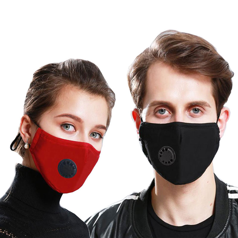 PM2.5 Anti Pollution Mask Air Filter Activated Carbon Mouth Face Mask KN95 Respirator Anti Haze Anti Allergy Dust Black Mask
