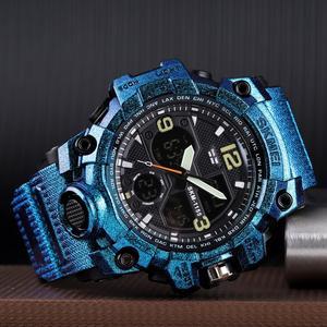 Image 3 - SKMEI montre de Sport pour hommes, Top marque, militaire numérique, étanche 5 bars, double affichage, étanche