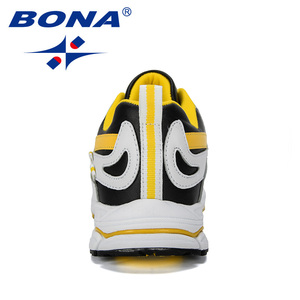 Image 3 - BONA  New Designer Men Cow Split Running Shoes Sports Outdoor Comfortable Man Sneakers Walking Athletic Footwear Trendy Shoe
