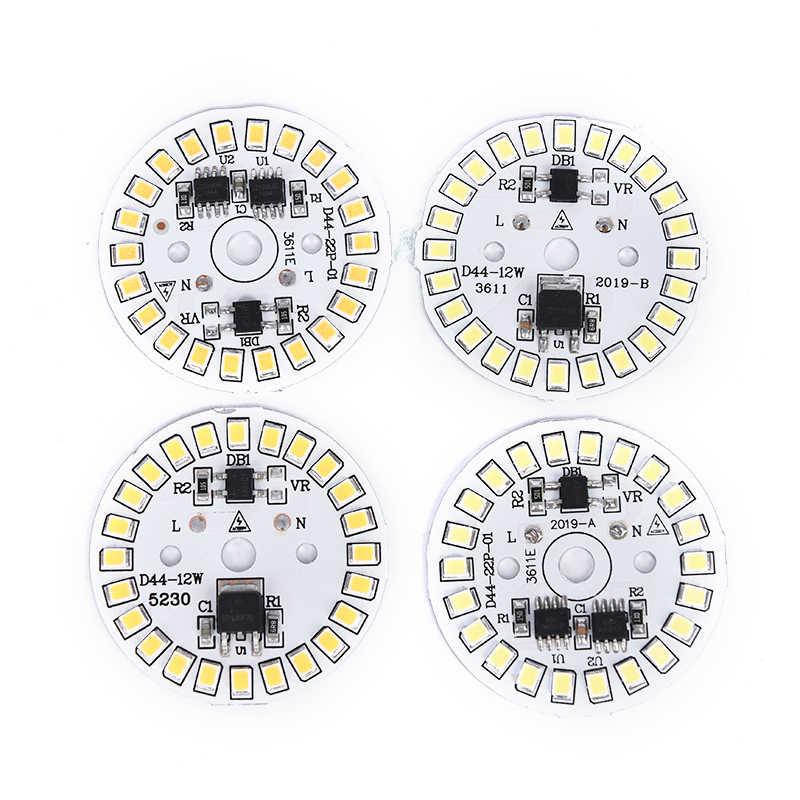 220V LEDหลอดไฟPatch SMDแผ่นวงกลมโมดูลแหล่งกำเนิดแสงสำหรับหลอดไฟ