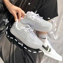 Sapatos de plataforma plana plus size 43 44 sapatos de skate macarone candy mulher ins lazer novo chique maré baixa superior tênis streetwear