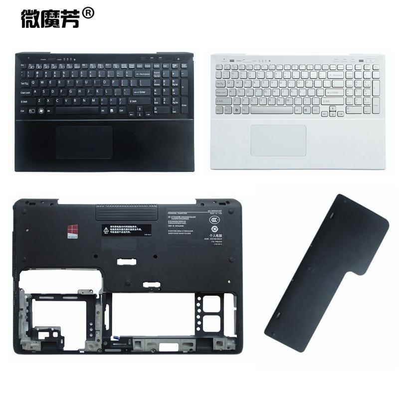 NEW Laptop Top LCD Back Cover Case For SONY For Vaio SVS151 SVS 151SVS15 SVS 15 Front Bezel Palmrest Bottom Case Keyboard