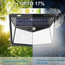 цена на 4pcs LED Solar PIR Motion Sensor Outdoor Garden Lamp Waterproof solar led light outdoor led light solar outdoor light wall lamp