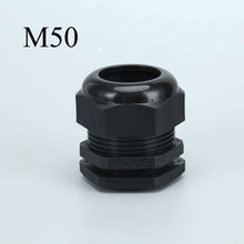 Cable Gland M50*1.5, Plastic Connectors with Lock Nut IP68 Adjustable 32-38mm Cord Gland m63 1 5 cable gland plastic ip68 waterproof adjustable 37 44mm cable connector cable gland joint