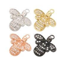ZHUKOU изысканный хрусталь пчела животное кулон для женщин ожерелье серьги ювелирные изделия Аксессуары Модель: VD525