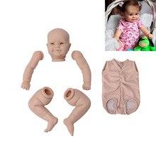 20 Polegada maddie unpainted inacabado boneca recém-nascido bebê lifelike reborn bebê boneca de vinil peças diy kit de boneca em branco para o presente do bebê