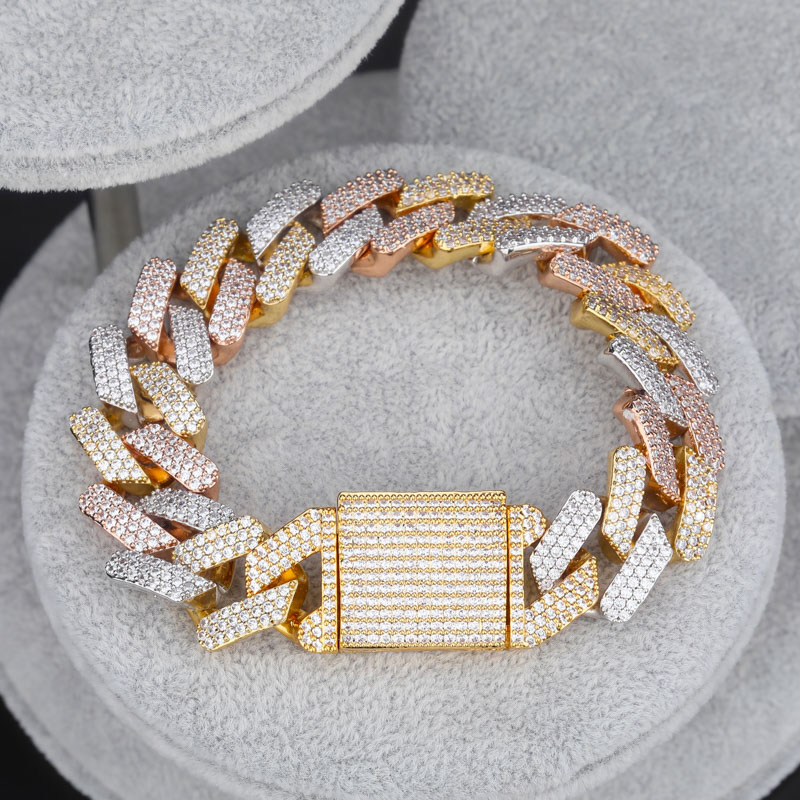 Image 5 - TOPGRILLZ Micro paved Cubic Zircon Big Box Clasp 20mm Cuban 