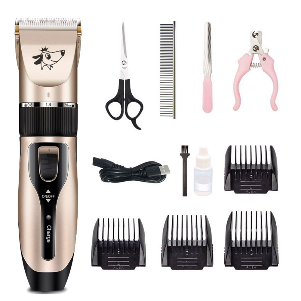 2019 Pet Electric Clipper Rechargeable Low-noise USB Hairdressing Set Dog Shaving Electric Cat Dog Hair Trimmer Grooming Cutter image