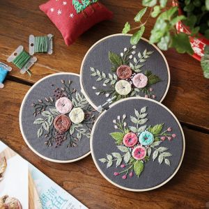 DIY Embroidery Ribbon Set With
