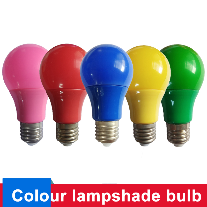 Colorful LED Bulb Lamp E27 Led Light 5W 7W 9W Red Blue Green Yellow Pink Lampada Ampoule Bombilla KTV Party Home Decor Lighting