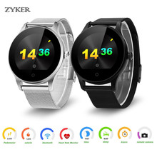 ZYKER Luxury Smart Watch Classic Metal Round Screen Smartwatch For Android IOS Support Remote Camera Heart Rate Monitor Watch colmi k88h bluetooth smart watch classic health metal smartwatch heart rate monitor for android ios phone remote camera rrim