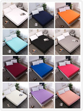 100%Polyester solid color elastic sheet easy care and clean fitted sheet for bed mattress protector