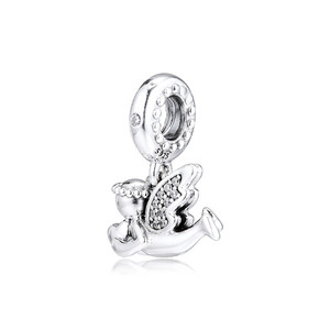 Image 3 - Clear CZ Angel of Love Dangle New 2019 Winter Collection 925 Sterling Silver Charms for Bracelets & Bangles DIY Jewelry Making