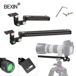 Telephoto lens support 12/25/30/40cm long-focus lens bracket tripod plate quick release for dslr camera with arce swiss plate