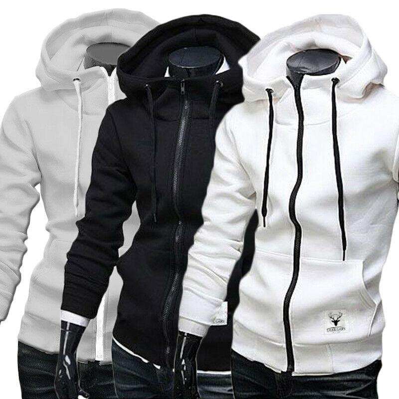 Moda nueva Sudadera con capucha ajustada de invierno para hombres caliente sudadera de Abrigo con capucha chaqueta prendas de vestir