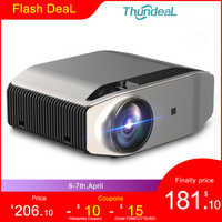 ThundeaL Full HD nativa de 1080P TD96 Proyector 6500 lúmenes LED inalámbrico WiFi Multi-pantalla Beamer 3D Video Proyector