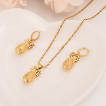 Gold dubai india pineapple jewelry Set  Necklace pendant Earrings Ethiopia Eritrea wedding bridl jewelry for women girl  gifts adixyn ethiopian jewelry set gold color crystal necklace earrings pendant ring bangle eritrea wedding habesha jewelry