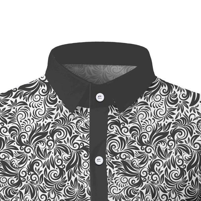 Élégant Paisley imprimé fleuri hommes chemise Patchwork décontracté mince hommes été à manches courtes chemises palais Style fleur chemise pour hommes