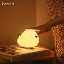 Baseus Night Light USB Rechargeable Touch Sensor LED Lamp 3 Modes Control Light For Office Home Bedroom Night Decorative Lamp