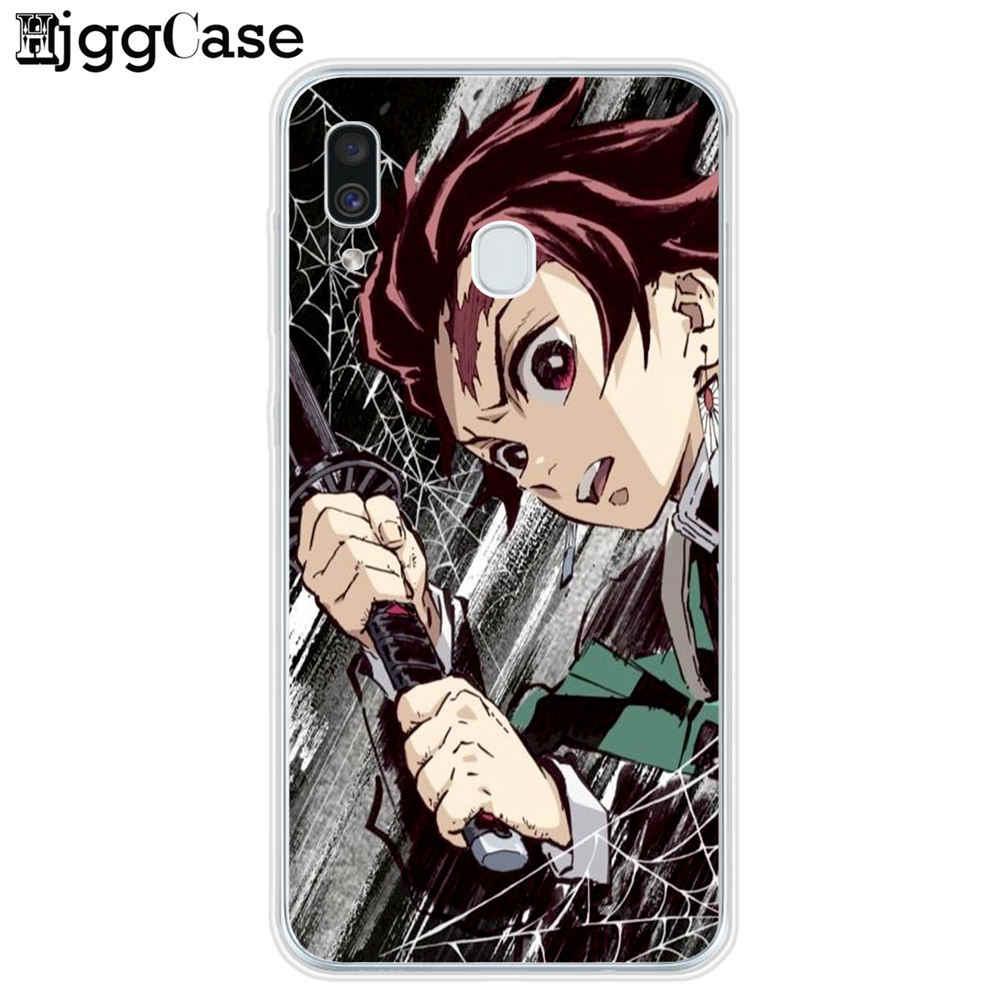 Anime Demon Slayer Kimetsu Không Yaiba Ốp Lưng Điện Thoại Coque Samsung A10 A20 A30 A40 A50 A70 A80 A7 A9 a6 A8 Plus 2018 Bìa Mềm