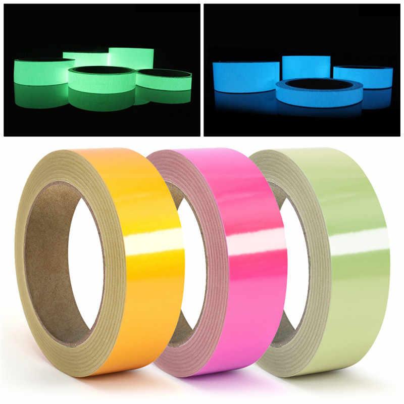 5 צבעים עצמית אזהרת זוהר קלטת זוהר בחושך דבק בטיחות קלטת ניאון אור אחסון אבטחת קלטת