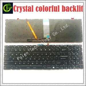 Image 1 - جديد الإنجليزية الكريستال RGB ملونة الخلفية لوحة المفاتيح ل MSI MS 16J5 MS 16J6 MS 1783 MS 1785 MS 16J1 V143422FK1 S1N 3EUS223 SA0 لنا