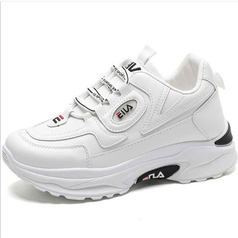 2020 Brand Wedgerunning Shoes Fashion Designers White Sneakers Women Leather Thick-soled Sports Shoes Woman Zapatillas Mujer