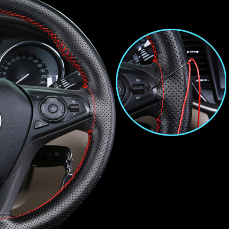 2019 <font><b>Car</b></font> Steering <font><b>Wheel</b></font> Cover Artificial Leather <font><b>Car</b></font> Styling for <font><b>Seat</b></font> Ibiza <font><b>Leon</b></font> Toledo Arosa Alhambra Exeo Supercopa Mii <font><b>Altea</b></font> image