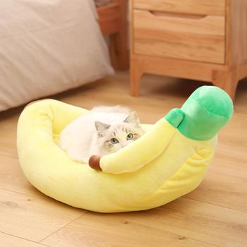 Cat Bed Pet Small Bed Winter Warm Cozy Cave House Pet Dog Cat Cushion Bed Boat Shape Detachable Washable Winter Plush Nest Mat image