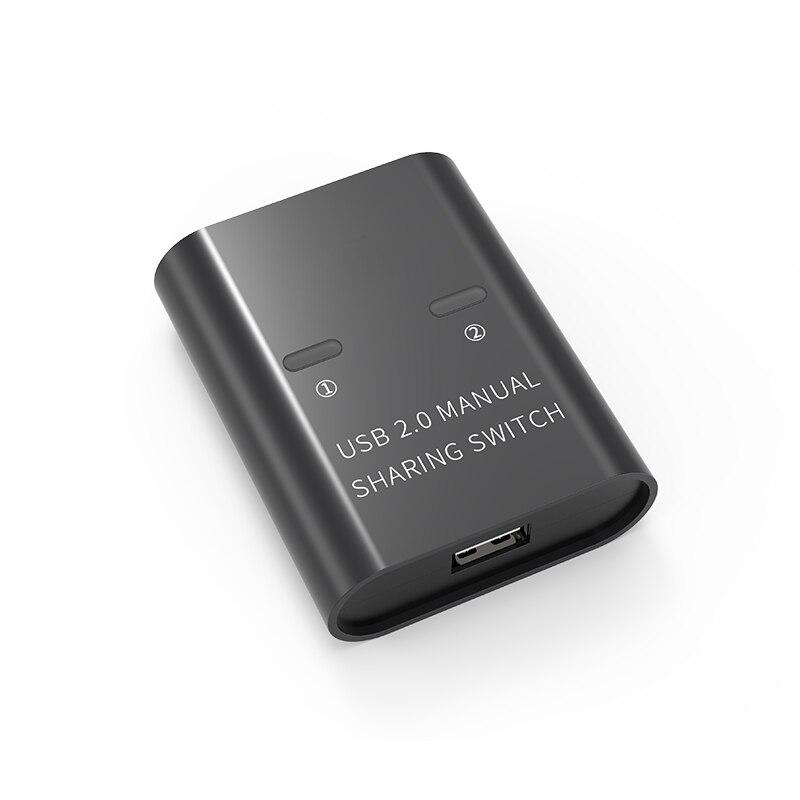 Коммутатор USB 2,0 для совместного использования, usb-хаб, 2 шт., поделиться 1 usb-устройством, 2 компьютера, принтер для клавиатуры и мыши