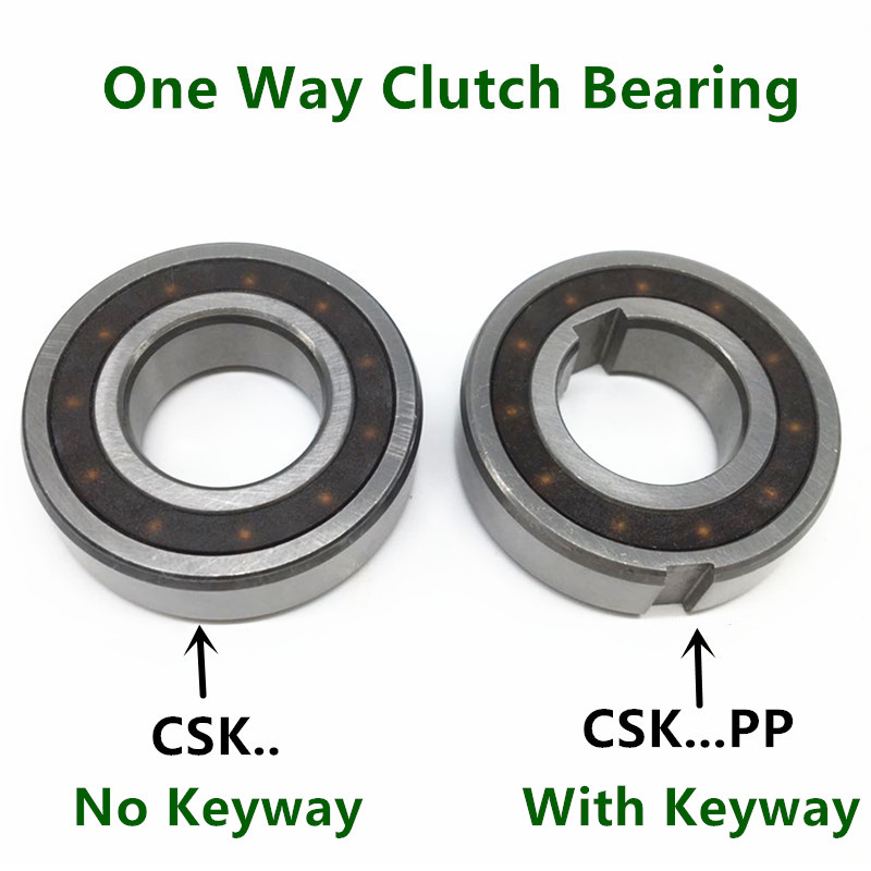 10pcs/lot One Way Clutch Bearing CSK8 CSK10 CSK12 CSK15 CSK17 CSK20 CSK25 PP Keyway Sprag Freewheel Backstop