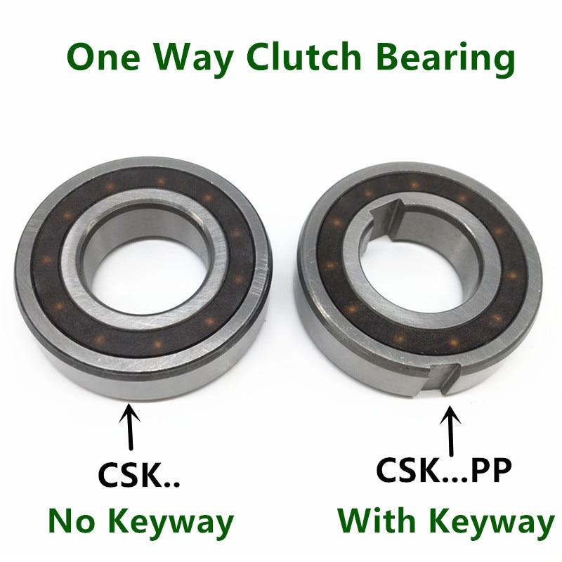 10pcs/lot One Way Clutch Bearing CSK8 CSK10 CSK12 CSK15 CSK17 CSK20 CSK25 PP Keyway Sprag Freewheel Backstop