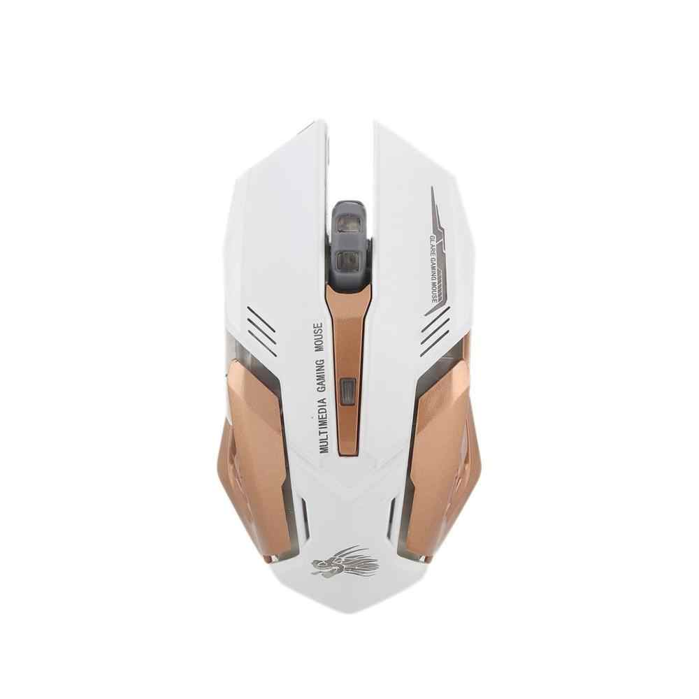 Lampu Latar LED 6 Tombol Optik DPI Wired Gaming Mouse untuk PC Laptop